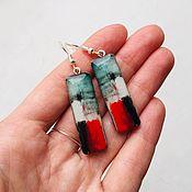 Украшения handmade. Livemaster - original item Earrings on wooden base