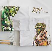 Одежда ручной работы. Ярмарка Мастеров - ручная работа парные футболки Халк и Йода. Handmade.