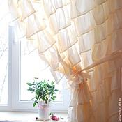 Для дома и интерьера ручной работы. Ярмарка Мастеров - ручная работа Штора в стиле бохо, цвет молочный. Handmade.