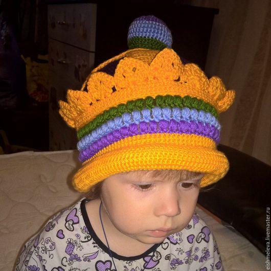 Шапки и шарфы ручной работы. Ярмарка Мастеров - ручная работа. Купить Вязаная шапка-корона. Handmade. Комбинированный, шапка мономаха
