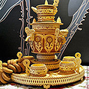 Подарки к праздникам handmade. Livemaster - original item Samovar made of birch bark. Birch bark samovar. Gift to business partners. Handmade.