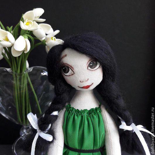 Коллекционные куклы ручной работы. Ярмарка Мастеров - ручная работа. Купить Мечтуля  - текстильная куколка. Handmade. Панда, подарок девушке