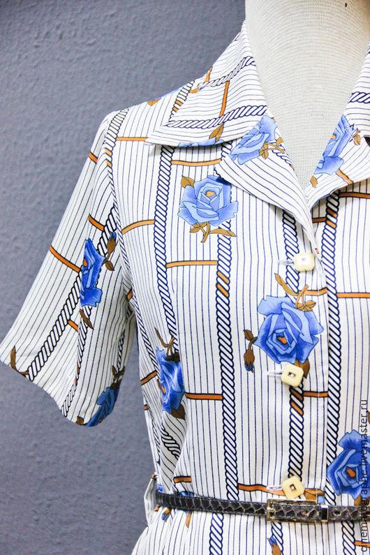 Одежда. Ярмарка Мастеров - ручная работа. Купить Платье JAPAN 60-е годы винтаж розы. Handmade. Комбинированный, платье