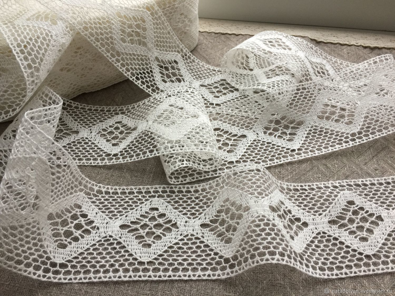 Sewing handmade. Livemaster - handmade. Buy Linen lace 'Prosa dairy 70mm' NO.Lace, lace for dress