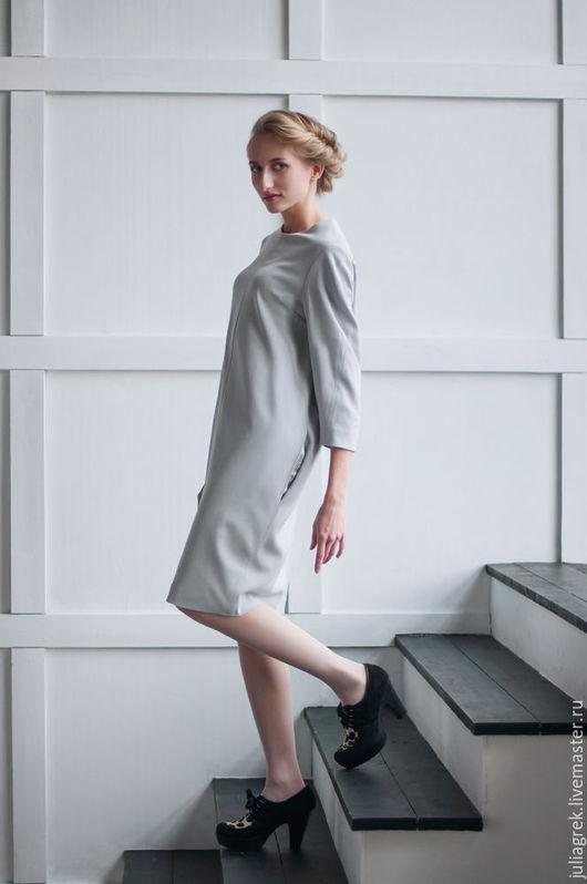 Платья ручной работы. Ярмарка Мастеров - ручная работа. Купить Платье 'Gray'. Handmade. Авторское платье, платье модное, осень