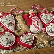 "Подарки к праздникам handmade. Livemaster - original item Set""Christmas country style composed of 8 pieces. Handmade."