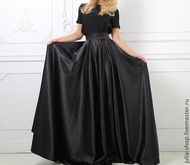 Черная юбка в пол купить в москве