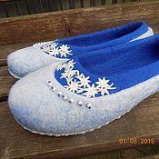 """Обувь ручной работы. Ярмарка Мастеров - ручная работа тапочки """"Снежинки"""". Handmade."""
