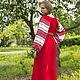 """Одежда ручной работы. Заказать Платье """"Этно"""" красное, вариант 3. Некрасова Екатерина - 'Зов Предков'. Ярмарка Мастеров."""