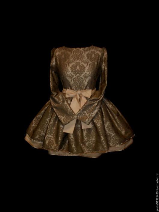 """Платья ручной работы. Ярмарка Мастеров - ручная работа. Купить Платье """"Камили"""" кофейное. Handmade. Бежевый, пышное платье, вналичии"""