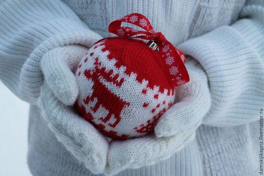 Новый год 2017 ручной работы. Ярмарка Мастеров - ручная работа. Купить Новогодний ёлочный шар, подарочный.. Handmade. Подарок 2015
