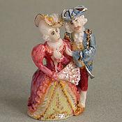 """Куклы и игрушки ручной работы. Ярмарка Мастеров - ручная работа напёрсток """"Дама с кавалером"""". Handmade."""