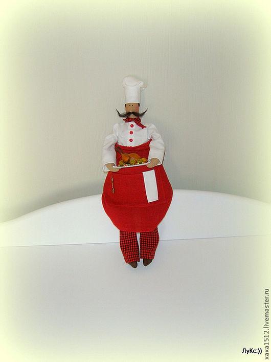 Куклы Тильды ручной работы. Ярмарка Мастеров - ручная работа. Купить Кукла текстильная Тильда повар Джузеппе. Handmade. глина