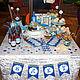 """Праздничная атрибутика ручной работы. Ярмарка Мастеров - ручная работа. Купить Оформление Сладкого стола (Candy Bar)  в стиле """"Морской"""". Handmade."""