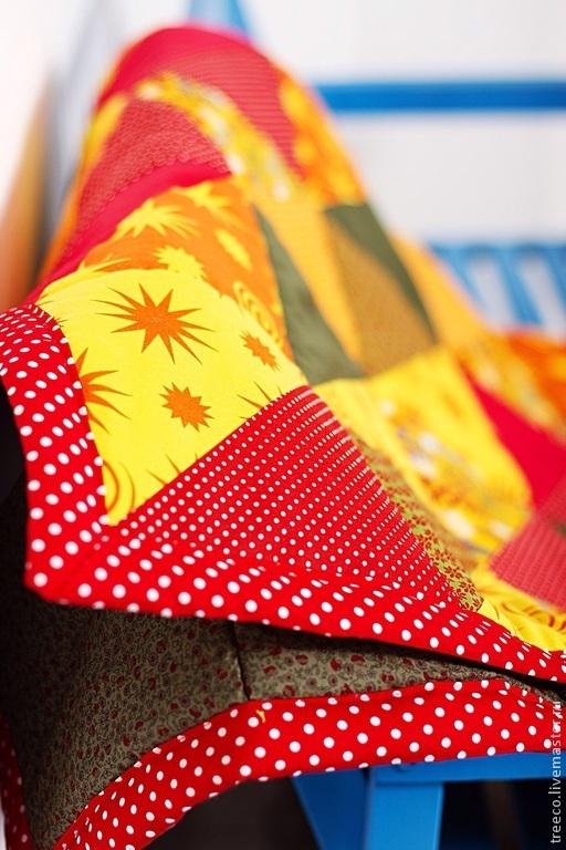 Пледы и одеяла ручной работы. Ярмарка Мастеров - ручная работа. Купить Лоскутное одеяло деское. Handmade. Лоскутное одеяло
