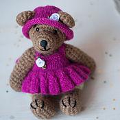 Куклы и игрушки ручной работы. Ярмарка Мастеров - ручная работа Мишка в малиновом. Handmade.