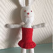 Куклы и игрушки handmade. Livemaster - original item Bunny in red dress. Handmade.