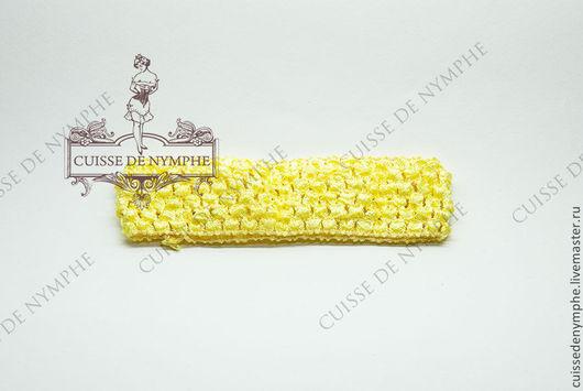 Шитье ручной работы. Ярмарка Мастеров - ручная работа. Купить Повязка на голову, желтая, 6003. Handmade. Топ, топ акриловый
