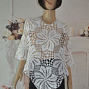 Одежда handmade. Livemaster - original item Summer openwork poncho, cotton.. Handmade.