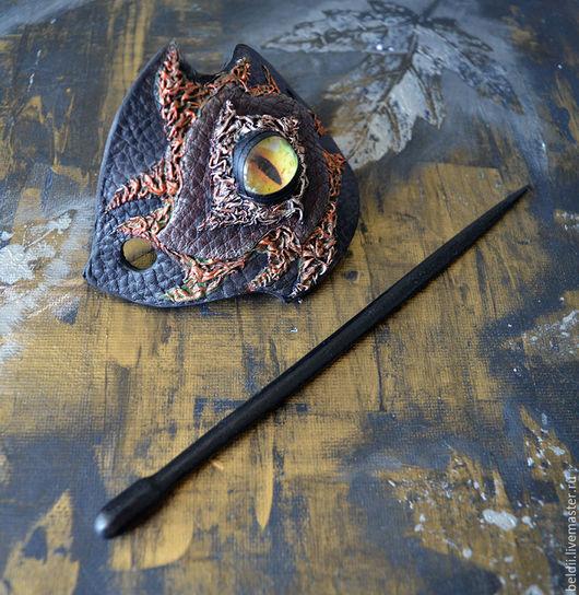 """Заколки ручной работы. Ярмарка Мастеров - ручная работа. Купить Заколка для волос """"Глаз Дракона"""". Handmade. Черный, глаз"""