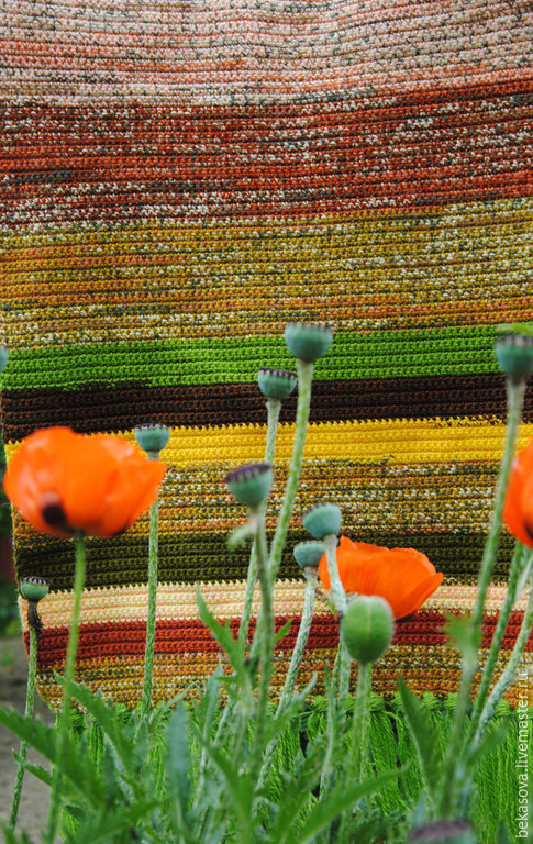 """Текстиль, ковры ручной работы. Ярмарка Мастеров - ручная работа. Купить Коврик """"Маки, маки"""". Handmade. Коврик, коврики"""