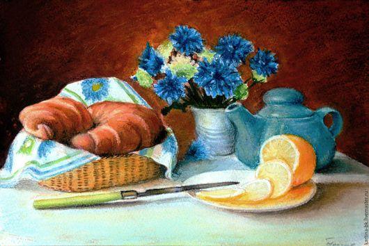 """Натюрморт ручной работы. Ярмарка Мастеров - ручная работа. Купить Натюрморт """" Завтрак на столе"""". Handmade. Натюрморт, лимон, цветы"""