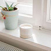 Свечи ручной работы. Ярмарка Мастеров - ручная работа Соевая свеча в керамической чаше «Морская соль и орхидея». Handmade.