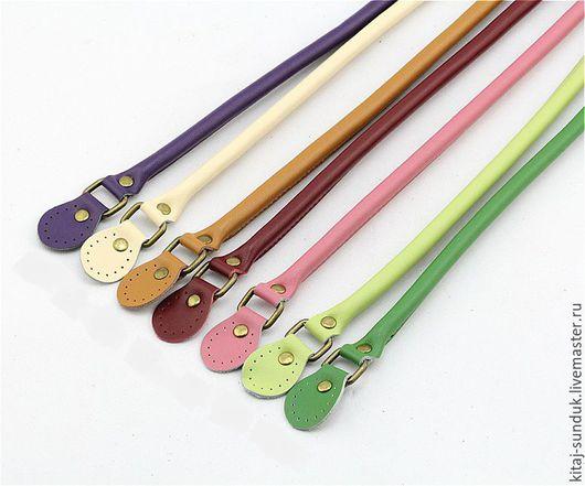 Другие виды рукоделия ручной работы. Ярмарка Мастеров - ручная работа. Купить Ручки подвижные для сумок 13 цветов 60 см кожаные. Handmade.