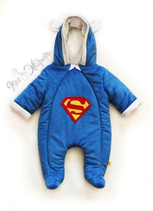 """Одежда ручной работы. Ярмарка Мастеров - ручная работа. Купить Комбинезон детский """"Супермен"""". Handmade. Комбинезон детский, комбинезон"""