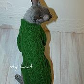 Для домашних животных, ручной работы. Ярмарка Мастеров - ручная работа Свитер удлиненный для котов и кошек. Handmade.