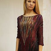 Одежда handmade. Livemaster - original item dress Burgundy. Handmade.