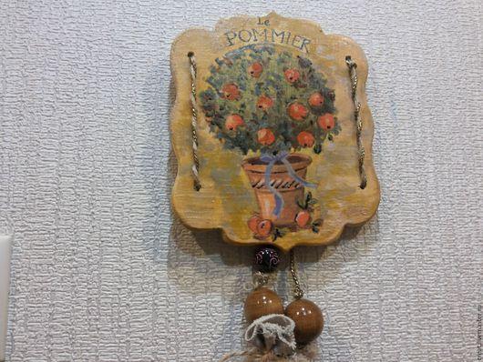 """Подвески ручной работы. Ярмарка Мастеров - ручная работа. Купить декоративное панно """" la pommier"""". Handmade. Панно, люрекс"""