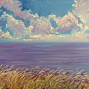 Картины и панно handmade. Livemaster - original item Oil painting on canvas. Sea lavender. Handmade.