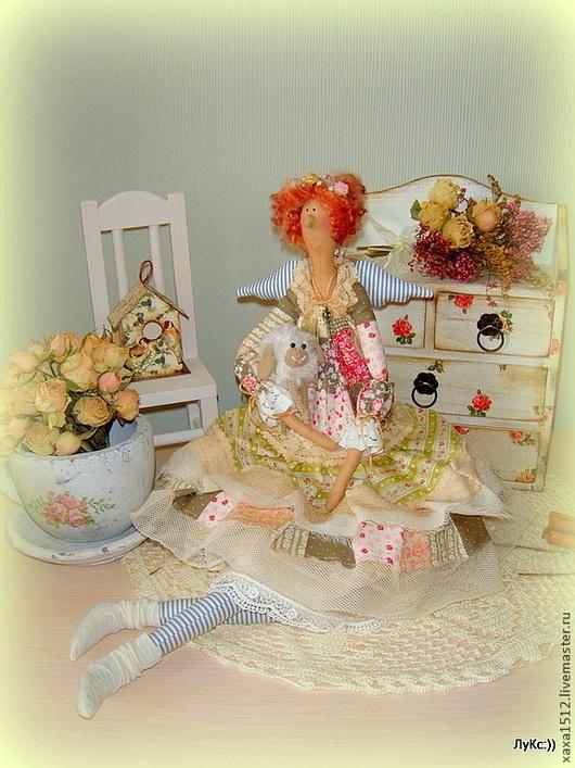 Куклы Тильды ручной работы. Ярмарка Мастеров - ручная работа. Купить Пенелопа - фея текстильная (Бохо). Handmade. Оливковый