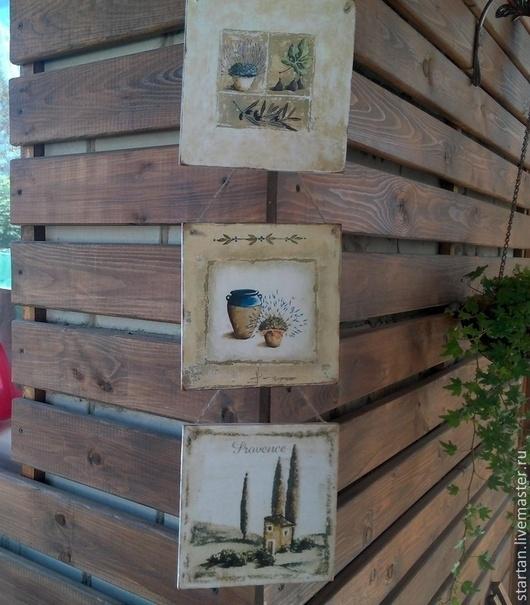 Пейзаж ручной работы. Ярмарка Мастеров - ручная работа. Купить панно Итальянское настроение. Handmade. Панно настенное, прованский стиль