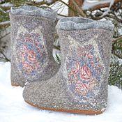 """Обувь ручной работы. Ярмарка Мастеров - ручная работа Валенки """"Зимушка"""". Handmade."""