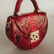 Сумки и аксессуары handmade. Livemaster - original item Python bag small crossbody red gift. Handmade.