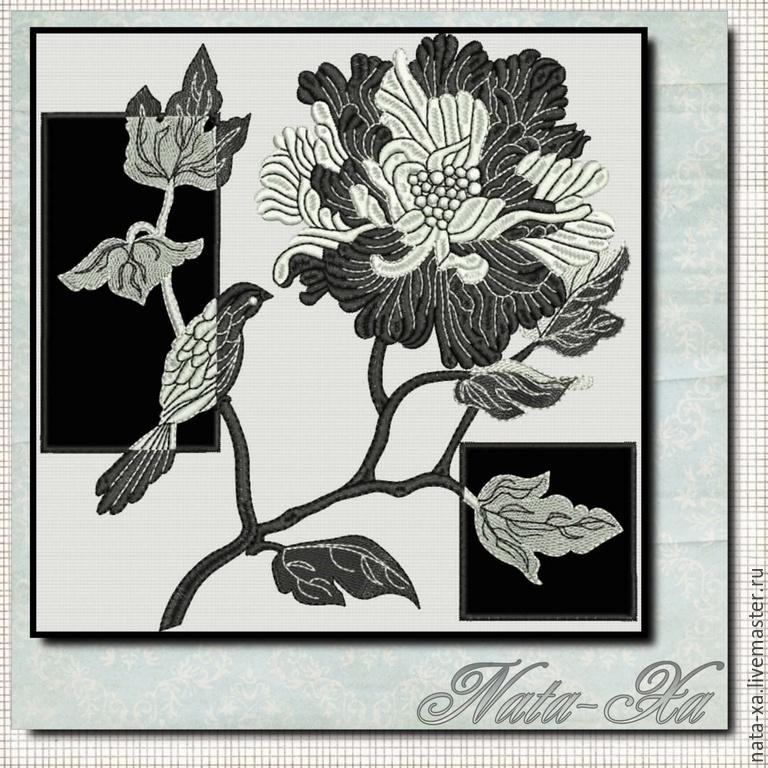 Наборы черно-белая вышивка