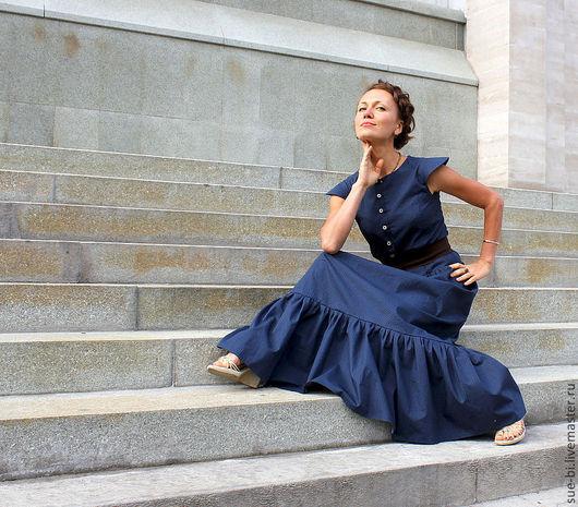 длинное платье в пол платье в пол на лето платье в пол синее платье макси синее платье длинное синее синее длинное платье