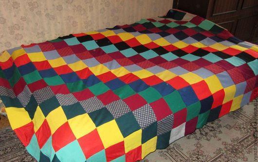 """Текстиль, ковры ручной работы. Ярмарка Мастеров - ручная работа. Купить Покрывало """"Радуга"""". Handmade. Покрывало, трикотаж, разноцветное, радужный"""