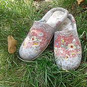 """Обувь ручной работы. Ярмарка Мастеров - ручная работа валяные тапочки """" Запах лета"""". Handmade."""