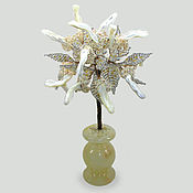 handmade. Livemaster - original item Tree of life mother of pearl in a vase of onyx. Handmade.