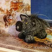 Мягкие игрушки ручной работы. Ярмарка Мастеров - ручная работа Чёрная свинья оршанской мельницы. Handmade.