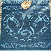 Для дома и интерьера ручной работы. Ярмарка Мастеров - ручная работа Вязаная накидка на сиденье Дельфины. Handmade.
