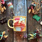 Посуда ручной работы. Ярмарка Мастеров - ручная работа Вкусная кружка Арт 12.118 Капкейк Набор Кружка + Ложка. Handmade.
