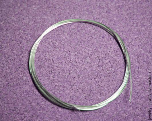 Для украшений ручной работы. Ярмарка Мастеров - ручная работа. Купить D - 0,4 мм, проволока из серебра. Handmade.