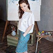 Одежда ручной работы. Ярмарка Мастеров - ручная работа Юбка-карандаш. Handmade.