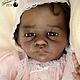 Куклы-младенцы и reborn ручной работы. Ярмарка Мастеров - ручная работа. Купить Эвелина. Handmade. Коричневый, недоношенный, темнокожий, синтепух