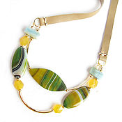 Украшения handmade. Livemaster - original item Necklace with onyx and amazonite