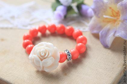 браслет, новость магазина, новинки, натуральные камни, украшения с цветами